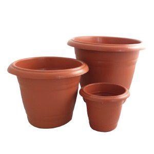 Vaso Plástico Paris N4 Ceramica - Jorani - 27x22,5cm