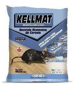 Raticida Kellmat cereais economicos 25g - Kelldrin - com 40 unidades