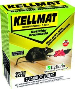 Raticida Kellmat Granulado 25g  - Kelldrin  - c/40 unidades