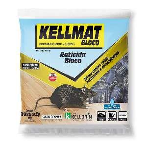 Raticida Kellmat Bloco 1kg - Kelldrin - com 50 unidades