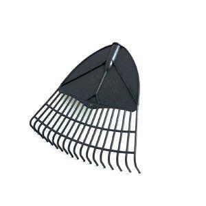 Vassoura plastica sem cabo para jardim preta - Jorani - 37x38x6cm
