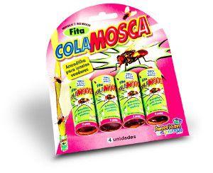 Fita adesiva cola mosca - American Pet's - com 4 unidades - 6x6x6cm