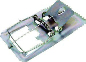 Ratoeira ferro com mola pequena - Ratoeiras Igmol - com 36 unidades - 9,5x5,5x1cm
