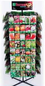 Expositor aco para sementes giratorio N18 - Feltrin - 184x74cm