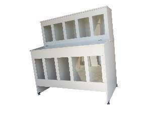 Pet box madeira 10 lugares 12/25kg com tampa individual - Ciner - 110x60x125cm