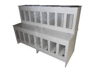 Pet box madeira 16 lugares 15/25kg - Ciner - 176x65x125cm