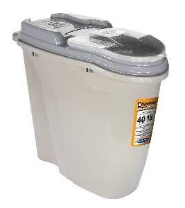 Dispenser plastico home full cinza 40 litros - Plast Pet - 60,5x28,4x52cm