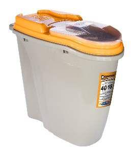 Dispenser plastico home full laranja 40 litros - Plast Pet - 60,5x28,4x52cm