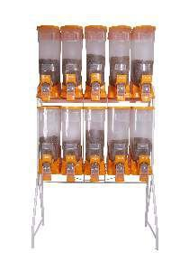Movel plastico dispenser duplo laranja 10x40L - Plast Pet - 130x56x221cm