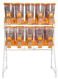 Movel plastico dispenser duplo cinza 10x18 litros - Plast Pet - 130x56x171cm