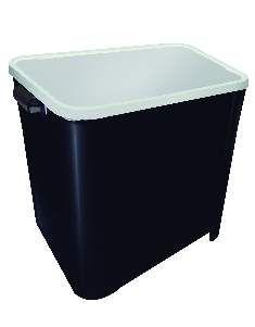 Canister plastico para racao quadrado 15kg - Preto - Furacao Pet - 32x38x34cm