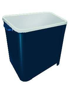 Canister plastico para racao quadrado 15kg - Azul - Furacao Pet - 32x38x34cm