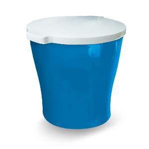Canister plastico para racao redondo 15kg - Azul - Furacao Pet - 47x40x40cm