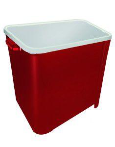 Canister plastico para racao quadrado 6kg - Vermelho - Furacao Pet - 27x26x21cm