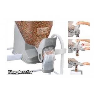 Bico Dosador de Ração para Dispenser cinza - Plast Pet - 25,3x21,2x106cm