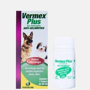 Vermifugo vermex plus 20ml - Indubras - 3,5 x 3,5 x 8,6 cm