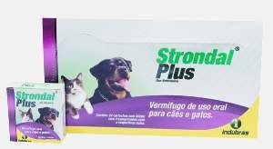 Vermifugo strondal plus 4 comprimidos - Indubras - 6 x 2,3 x 6,8 cm