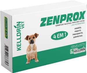 Vermifugo Zenprox para caes pequenos 225mg - Kelldrin - 4 unidades