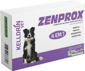 Vermifugo Zenprox para caes medios 900mg - Kelldrin - 4 unidades