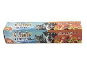 Creme dental tutti-frutti 90g - Club Pet Cat Dog