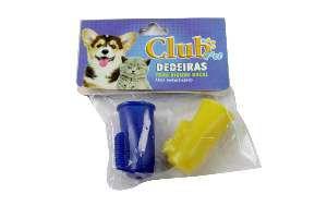 Dedeira PVC solapa - Club Pet Cat Dog - com 2 unidades - 4,5x2,5cm