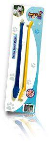 Escova dental plastica dupla - American Pet's - com 2 unidades - 12cm