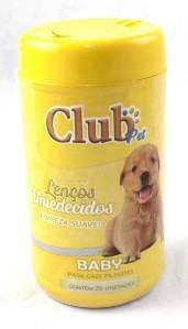 Lenco umedecido bebe - Club Pet Cat Dog - com 75 lencos - 16x8cm