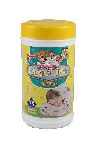 Lenço Umedecido Genial Pet Filhote - Genial - com 75 unidades