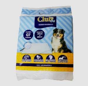 Tapete higienico 60x60cm - Club Pet Import - com 7 unidades
