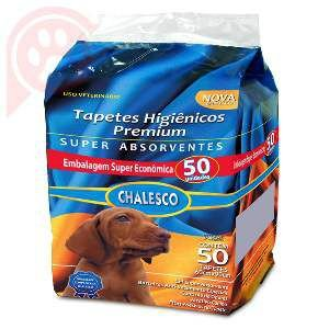 Tapete higienico - com 50 unidades - Chalesco - 60x90cm