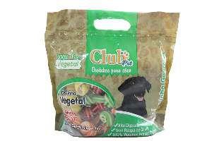 Osso vegetal colorido 5/6 1kg - Club Pet Doogs