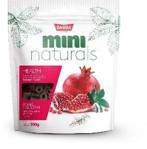 Snacks mini naturals health 300g - Bassar Pet Food - roma e alecrim