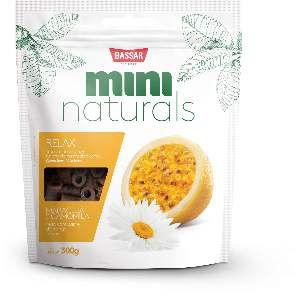 Snacks mini naturals relax 300g - Bassar Pet Food - maracuja e camomila