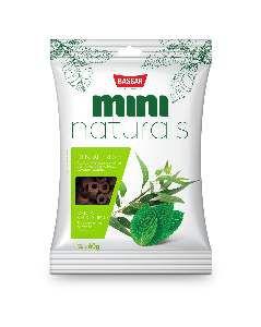 Snacks mini naturals dental fresh 60g - Bassar Pet Food - menta e eucalipto