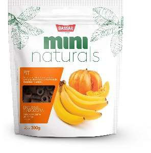 Snacks mini naturals fit 300g - Bassar Pet Food - banana e abobora