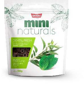Snacks mini naturals dental fresh 300g - Bassar Pet Food - menta e eucalipto