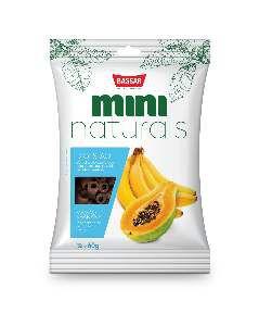 Snacks mini naturals digestao 60g - Bassar Pet Food - mamao e banana