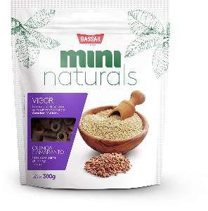 Snacks mini naturals vigor 300g - Bassar Pet Food - quinoa e amaranto