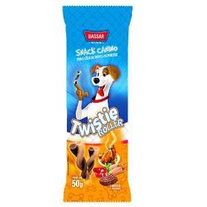 Snacks roller carne com frango 50g - Bassar Pet Food - com 4 unidades