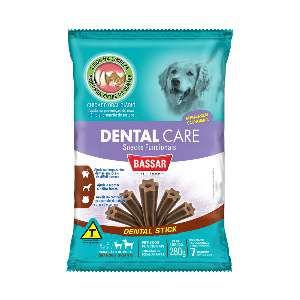 Snacks dental care racas grandes 280g - Bassar Pet Food - com 7 unidades