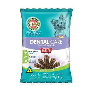 Snacks dental care racas pequenas 110g - Bassar Pet Food - com 7 unidades