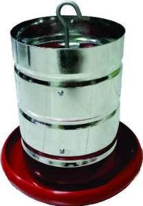 Comedouro aluminio tubular 4kg - Avipet - com 5 unidades - 24x24cm
