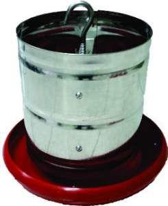 Comedouro aluminio tubular 3kg - Avipet - com 5 unidades - 22x22cm