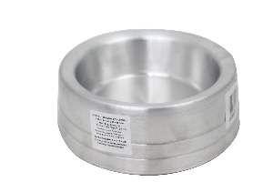 Comedouro aluminio pesado pequeno 800ml - Club Pet Dumar - caixa com 4 unidades - 19x6,5cm