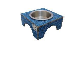 Comedouro ecologico simples azul M - Club Pet Recriar - 18,5x8x20cm