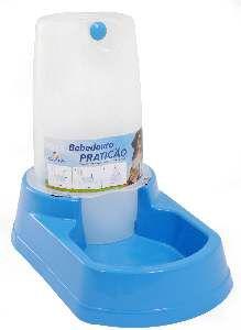 Bebedouro plastico praticao automatico grande azul 6,5L - Club Pet Alvorada - 43x24x31cm
