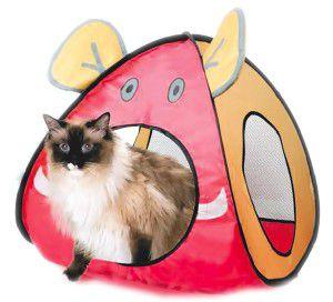 Brinquedo nylon tenda para gatos - American Pet's - 45x45x52cm