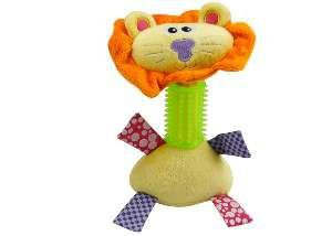 Brinquedo pelucia leao com mordedor - Savana - 3x19x9cm