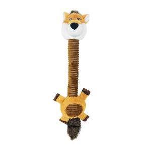 Brinquedo pelucia raposa long neck com apito - Savana - 60x17cm