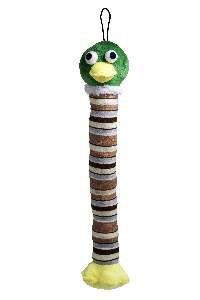 Brinquedo pelucia pato long neck com apito - Savana - 45x11,5cm